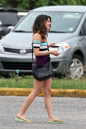 Shenae Grimes on the set of Empire State in New Orleans  -  June 7, 2012