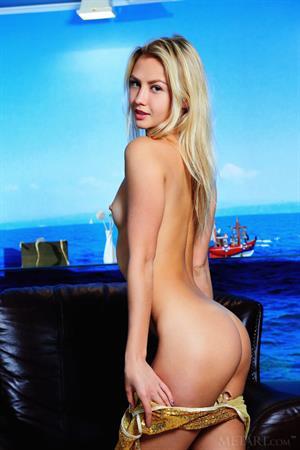 Mya Naked by the ocean
