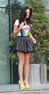 Tulisa Contostavlos - Leaving The Lowry Hotel in Manchester Heading to X Factor (June 5, 2012)