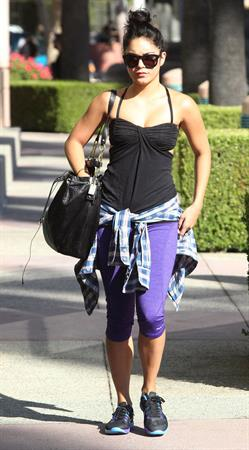 Vanessa Hudgens heading to the gym in Los Angeles October 2, 2012
