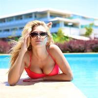 Tatyana Kotova in a bikini