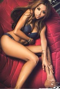 Kristy-Lei Juan in lingerie