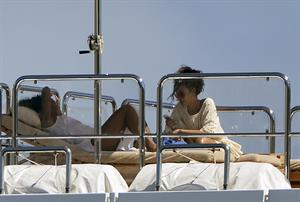 Rihanna enjoying a break on a yacht in Ponza August 29