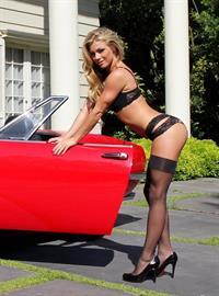 Nikki Leigh in lingerie