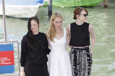 Amy Ryan and Emma Stone Birdman photocall @ 71st International Venice Film Festival August 27, 2014