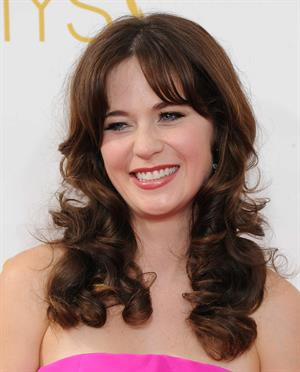 Zooey Deschanel at the 66th annual Primetime Emmy Awards, August 25, 2014