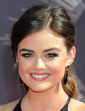 Lucy Hale at the 2014 MTV Video Music Awards, Inglewood August 24, 2014