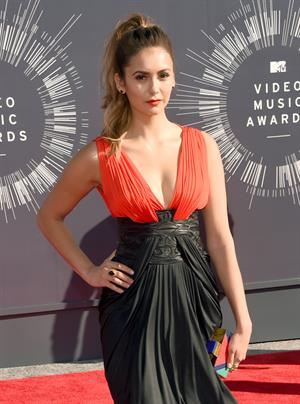 Nina Dobrev at 2014 MTV Video Music Awards, Inglewood August 24, 2014