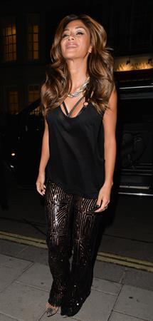 Nicole Scherzinger leaving Nobu Restaurant in Mayfair, London August 23, 2014