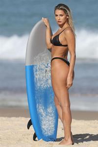 Madison Edwards in a beach bikini photo shoot in Sydney, 05/01/2017