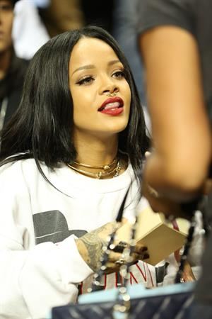 Rihanna at 2014 Summer Classic Charity Basketball Game, NYC August 21, 2014