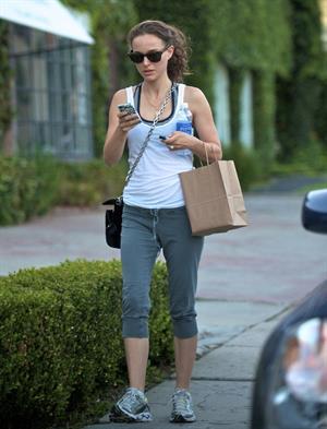 Natalie Portman - leaving the gym in LA 6/28/12