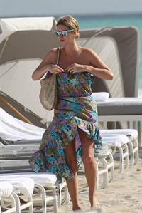 Nicky Hilton Hotel pool in Miami - December 31, 2012