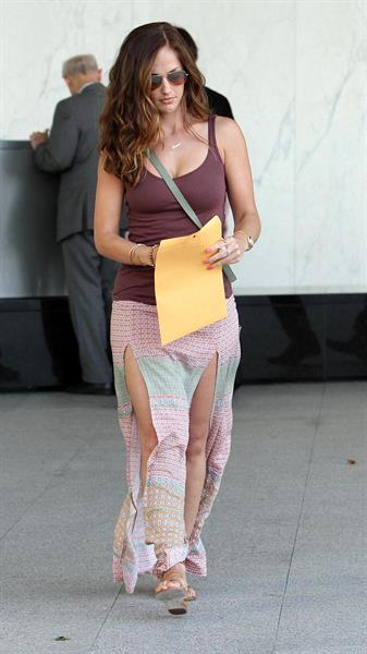 Minka Kelly leaving Joans on Third in Hollywood on May 21, 2012