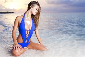 Nina Agdal – Sauvage Swimwear 2013 Collection shoot