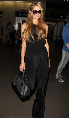 Paris Hilton arrive at LAX Airport 9/30/13