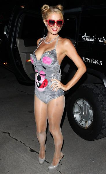 Paris Hilton  Playboy Mansion Halloween Party in Los Angeles October 26, 2013