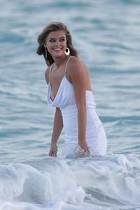 Nina Agdal Photoshoot for Bebe in Miami - November 12, 2013