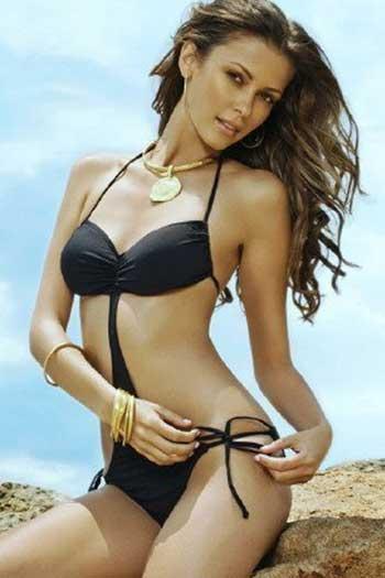 Olga Fonda in a bikini