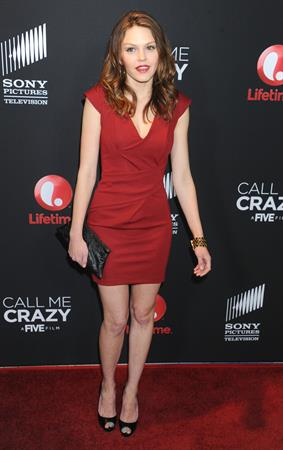 Aimee Teegarden Call Me Crazy: A Five Film Premiere in West Hollywood 4/16/13