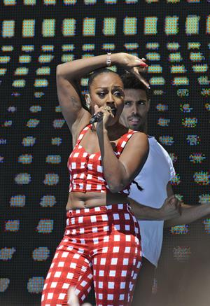 Alexandra Burke on the beach in Weston Super Mare 1/7/2012