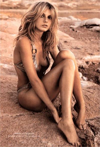 Angela Lindvall in a bikini