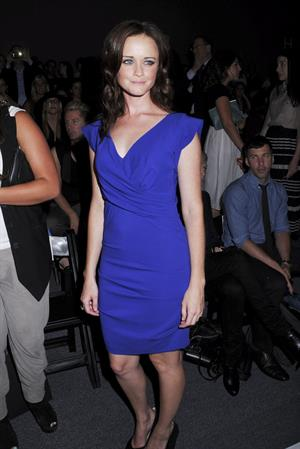 Alexis Bledel at the Nicole Miller fashion show during New York fashion week on September 9, 2011