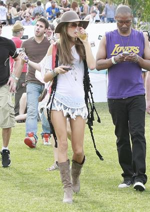 Alessandra Ambrosio at day 2 of the Coachella Music and Arts Festival in Indio on April 18, 2010
