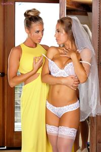 Here Cums The Bride.. featuring Nicole Aniston, Samantha Saint | Twistys.com