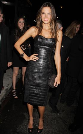 Alessandra Ambrosio Victoria's Secret fashion show after party in New York on November 10, 2011