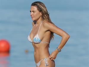 Tetyana Veryovkina in a bikini on a beach in Miami