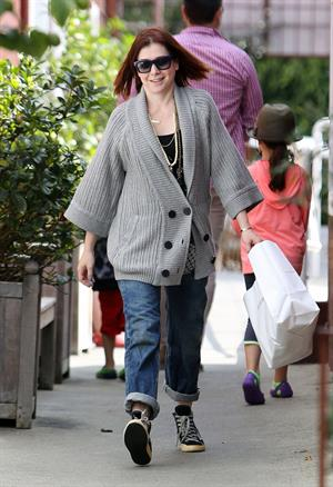 Alyson Hannigan Candids Leaving the Brentwood Country Mart in L.A - March 28th, 2014