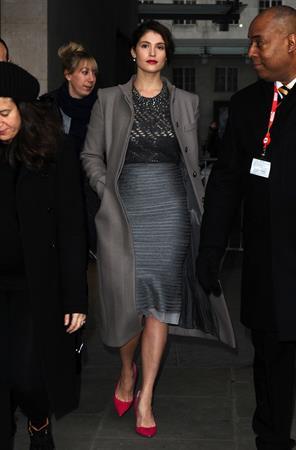 Gemma Arterton - Arrives at the BBC Studios in London (15.02.2013)