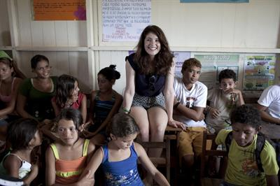 Gemma Arterton Visits Sky Rainforest Rescue, 01 Jul 2011