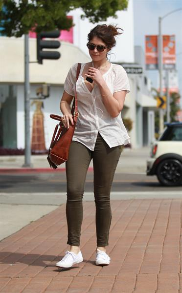 Gemma Arterton enjoys a stroll in Los Angeles on March 30, 2013