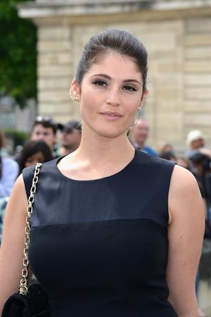 Gemma Arterton attending Christian Dior show during Paris Haute Couture Fashion Week - July 1, 2013