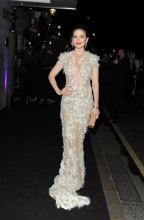 Hayley Atwell attends the 59th London Evening Standard Theatre Awards