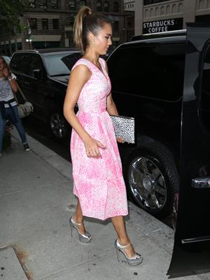 Jessica Alba out and about in New York City August 12, 2014