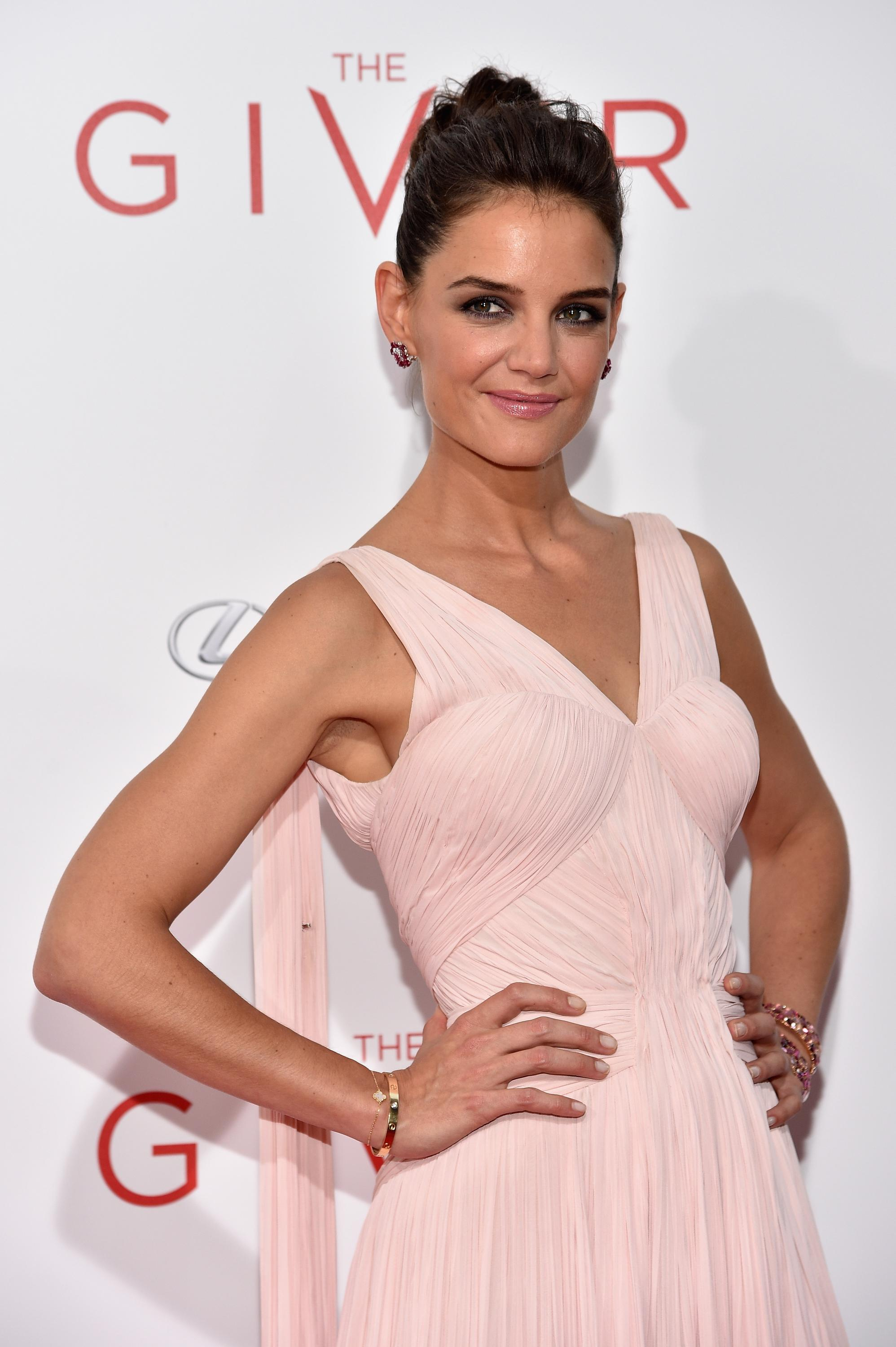 Katie Holmes attending  The Giver  New York City premiere August 11, 2014