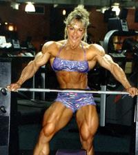 Lisa Aukland in a bikini