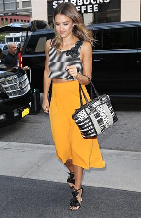 Jessica Alba walking in New York City on August 05, 2014
