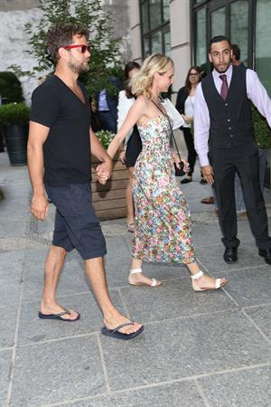 Diane Kruger and Joshua Jackson out and about in New York City August 05, 2014