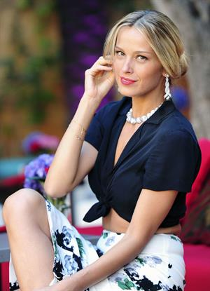 Petra Nemcova poses during a photo shoot in Marbella