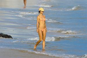 Alessandra Ambrosio has a family fun day at the beach in Malibu