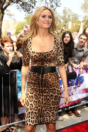 Heidi Klum at  America's Got Talent  in San Antonio on Match 20, 2013