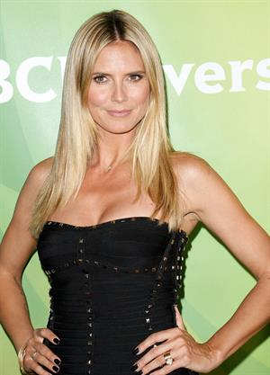 Heidi Klum attending the NBC Universal Summer Press Day in Pasadena on April 22, 2013