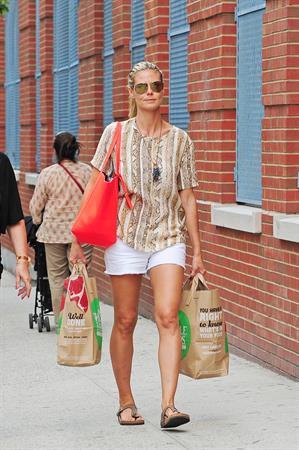 Heidi Klum shopping with her Mom Erna Klum in NYC on June 24, 2013