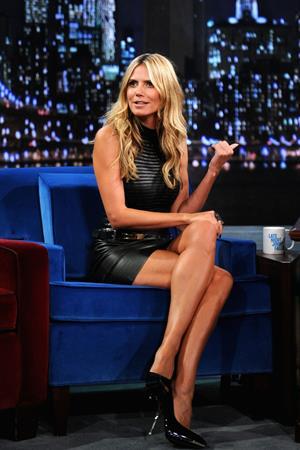 Heidi Klum on Late Night with Jimmy Fallon in New York on September 4, 2013