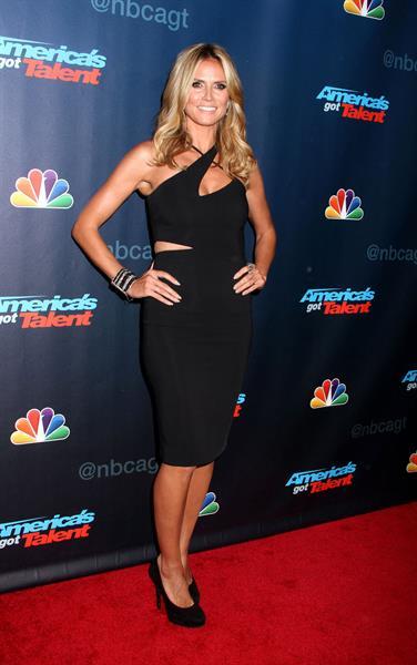 Heidi Klum attending the  America's Got Talent  Season 8 Pre-Show Red Carpet Event in New York on Sept 17, 2013