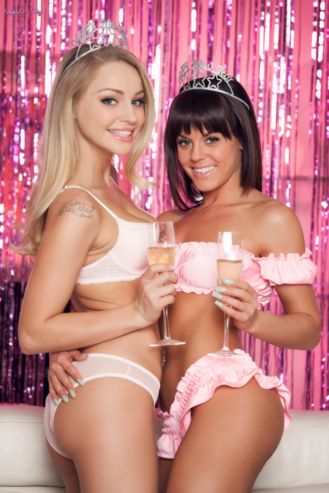 Ringing In The Pink.. featuring Rahyndee James, Staci Carr | Twistys.com